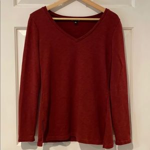 J. Crew v-neck tunic sweatshirt